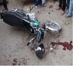 مرگ ۲تن در تصادف موتورسیکلت با کامیونت شهرداری